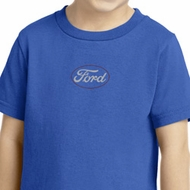 White Ford Middle Print Toddler Shirt