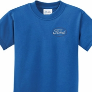 White Ford Pocket Print Kids Ford Shirts