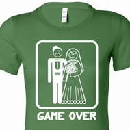 White Game Over Ladies Shirts