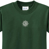 White Lotus OM Patch Kids Yoga Shirts