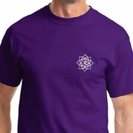 White Lotus OM Patch Mens Yoga Shirts