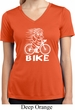 White Penguin Power Bike Ladies Moisture Wicking V-neck Shirt