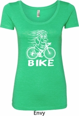 White Penguin Power Bike Ladies Scoop Neck Shirt