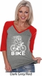 White Penguin Power Bike Ladies Three Quarter Sleeve V-Neck Raglan