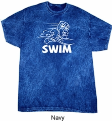White Penguin Power Swim Mineral Washed Tie Dye T-shirt
