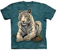 White Tiger Kids Shirt Tie Dye Big Cat Gaze T-shirt Tee Youth