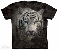 White Tiger Stare Shirt Tie Dye Adult T-Shirt Tee