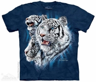 White Tigers Shirt Tie Dye Adult T-Shirt Tee