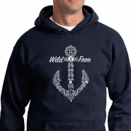 Wild and Free Anchor Hoodie