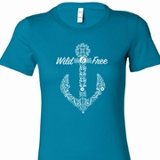 Wild and Free Anchor Ladies Shirts