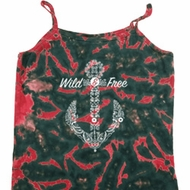 Wild and Free Anchor Ladies Tie Dye Camisole Tank Top