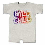 Wild Child Funny Baby Romper Grey Infant Babies Creeper