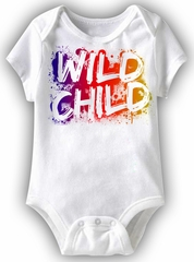Wild Child Funny Baby Romper White Infant Babies Creeper