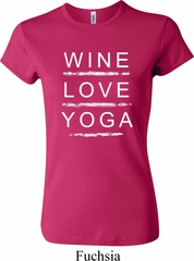 Wine Love Yoga Ladies Crewneck Shirt