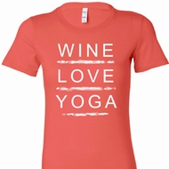 Wine Love Yoga Ladies Longer Length Shirt