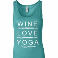 Wine Love Yoga Ladies Longer Length Tank Top