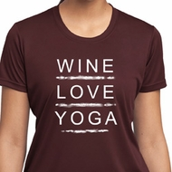 Wine Love Yoga Ladies Moisture Wicking Shirt
