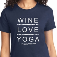 Wine Love Yoga Ladies Shirt