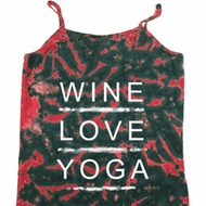 Wine Love Yoga Ladies Tie Dye Camisole Tank Top