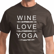 Wine Love Yoga Mens Yoga Shirts