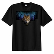 Wolf T-shirt Wolf at Night in Woods Hunting Tee Shirt
