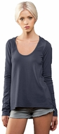 Womens Thin Hoodie Tee Shirt - Made in the USA