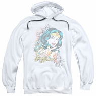 Wonder Woman Hoodie Scroll White Sweatshirt Hoody