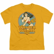 Wonder Woman Kids Shirt Glowing Gold T-Shirt