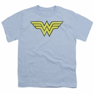 Wonder Woman Kids Shirt Logo Light Blue T-Shirt