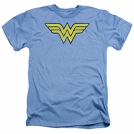 Wonder Woman Shirt Logo Heather Light Blue T-Shirt