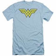 Wonder Woman Slim Fit Shirt Logo Light Blue T-Shirt