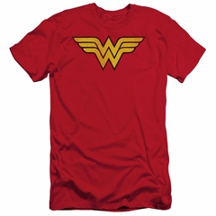 Wonder Woman Slim Fit Shirt Logo Red T-Shirt