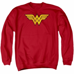 Wonder Woman Sweatshirt Logo Adult Red Sweat Shirt