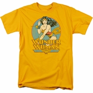 Wonder Woman T-shirt - DC Comics Super Hero Adult Gold Tee