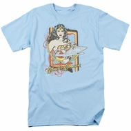 Wonder Woman T-shirt - Invisible Jet Adult Light Blue Tee