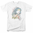 Wonder Woman T-shirt - Wonder Scroll DC Comics Adult White Tee
