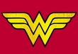 Wonder Woman T-shirt - Wonder Woman Logo Adult Red Tee