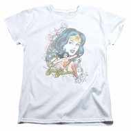Wonder Woman Womens Shirt Scroll White T-Shirt
