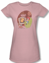 Woody Woodpecker Junior Shirt Chocolate Hour Pink Tee T-Shirt