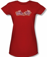 Woody Woodpecker Junior Shirt Sketchy Bird Red Tee T-Shirt