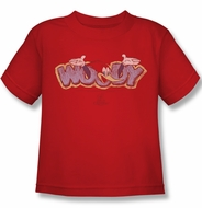 Woody Woodpecker Kids Shirt Sketchy Bird Red Tee T-Shirt