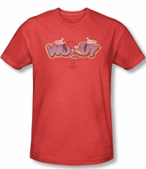 Woody Woodpecker Shirt Sketchy Bird Adult Heather Red Tee T-Shirt