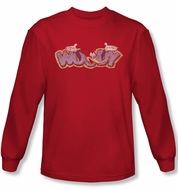 Woody Woodpecker Shirt Sketchy Bird Red Long Sleeve Tee T-Shirt