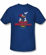 Woody Woodpecker Shirt Woody T Adult Royal Blue Tee T-Shirt