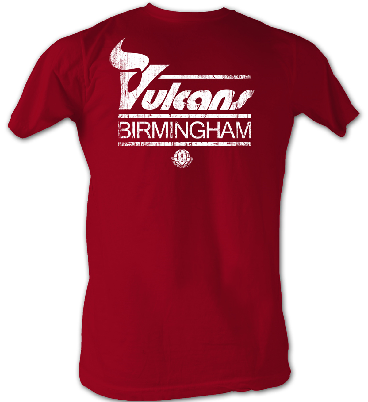 World Football League T Shirt Birmingham Vulcans Adult