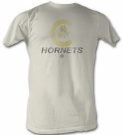 World Football League T-Shirt Charlotte Hornets Adult Dirty White