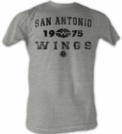 World Football League T-Shirt Chicago Wings 2 Adult Grey Tee Shirt