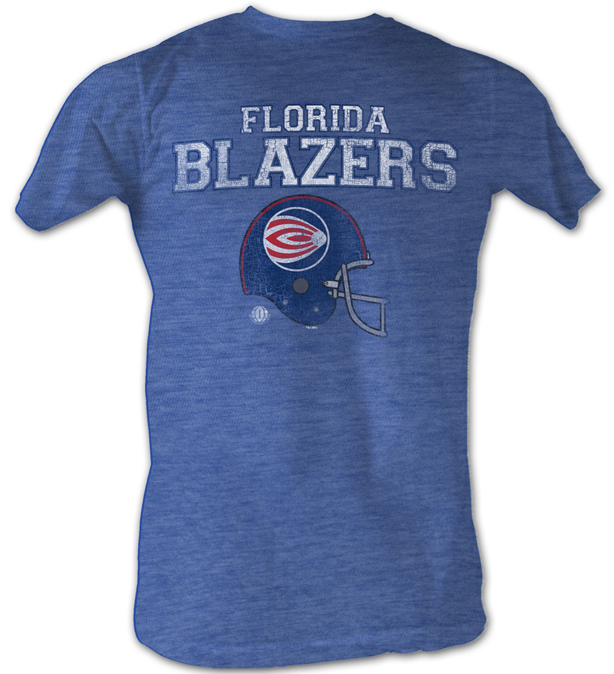 World Football League T Shirt Florida Blazers Heather Blue