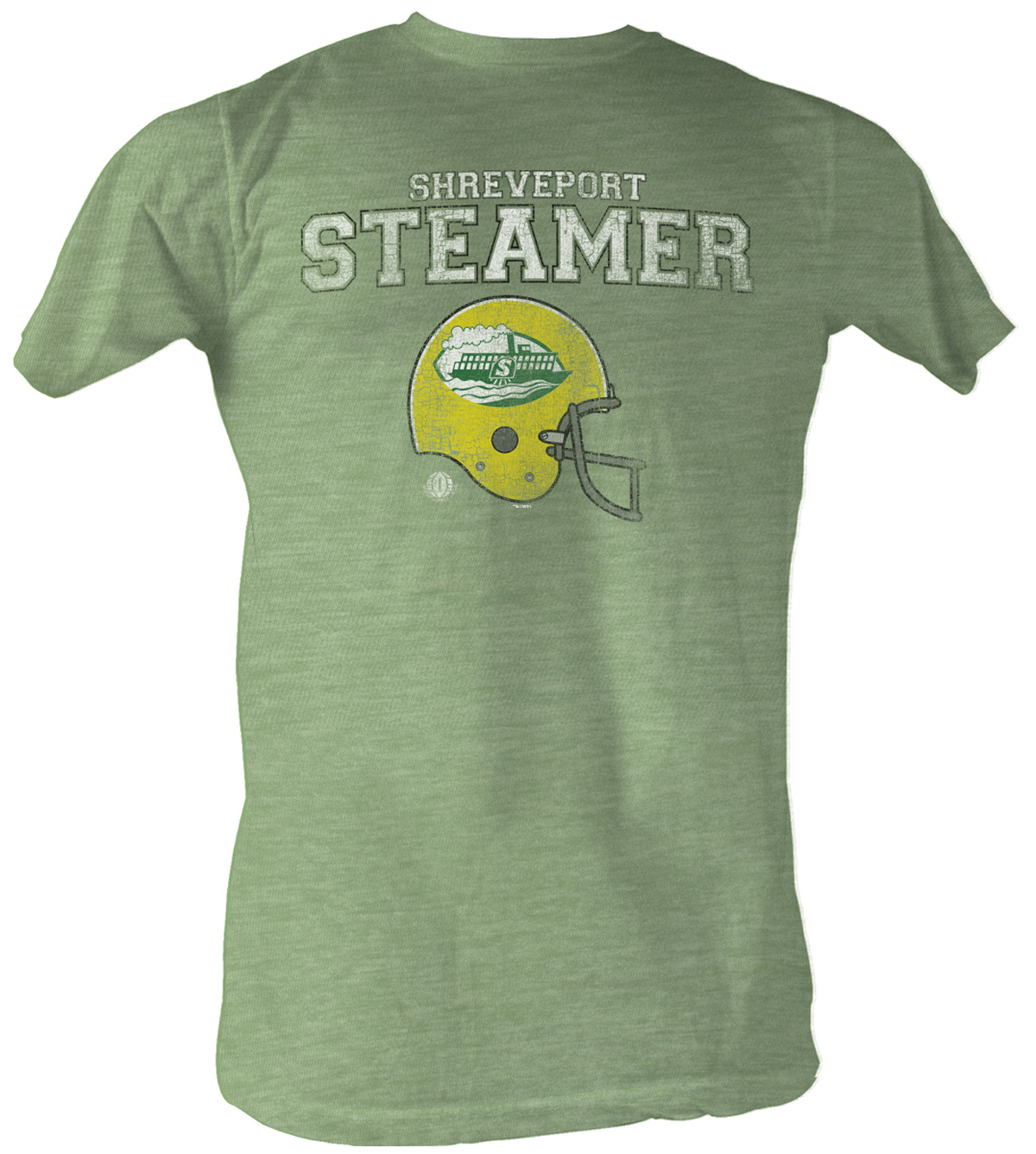 World Football League T Shirt Shreveport Steamers Green