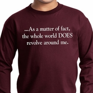 World Revolves Around Me Kids Long Sleeve Shirt